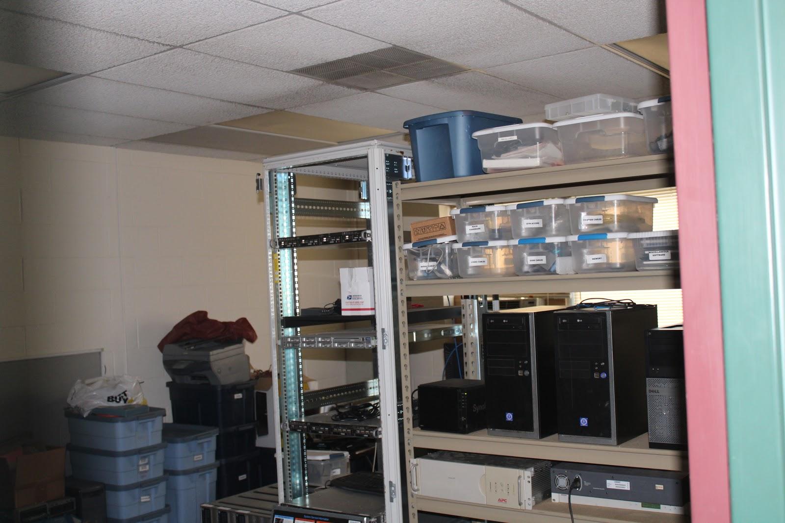 Incubator IT shelving space